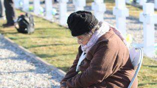 Un dibujante retrató el encuentro de una madre con su hijo caído en Malvinas