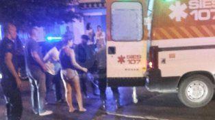 El oficial de policía Marcelo Echagüe fue embestido esta madrugada.