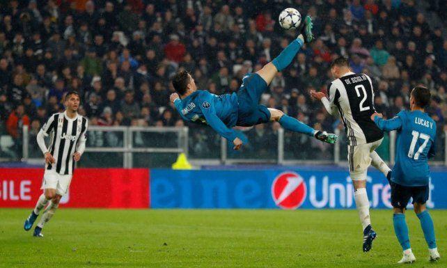 Real Madrid goleó a Juventus con una chilena memorable de Cristiano Ronaldo