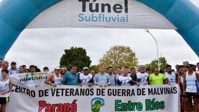 El Túnel Subfluvial recibió la V edición de la carrera pedestre Malvinas: No Olvidar