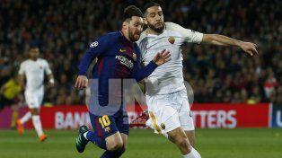 Sin goles de Messi, el Barcelona goleó a Roma en el Camp Nou