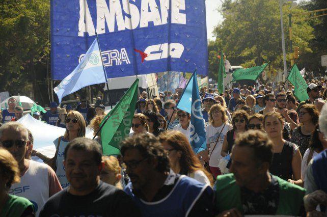 Masiva. Los organizadores calcularon que marcharon 20.000 personas.