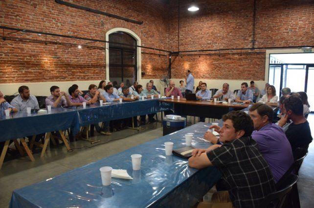 Circunvalar Santa Fe: reunión en Franck por el proyecto ferroviario