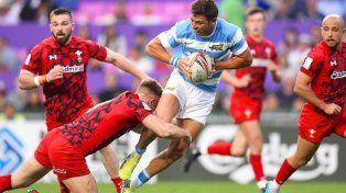 Argentina venció a Gales en el debut en el Seven de Hong Kong