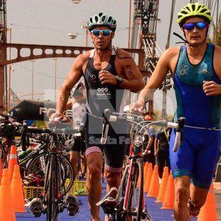 alvarez y medard son los campeones argentinos de triatlon