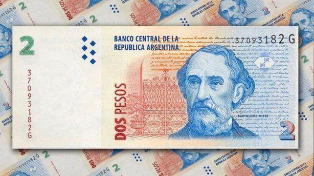 Hasta cuándo se podrán canjear los billetes de dos pesos