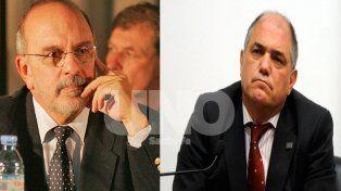 Recuerdo. Bettanín (izquierda) y Simoniello fueron concejales durante la gestión de Marcelo Álvarez como intendente.