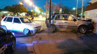 Accidente en la intersección de Lamadrid y Mendoza