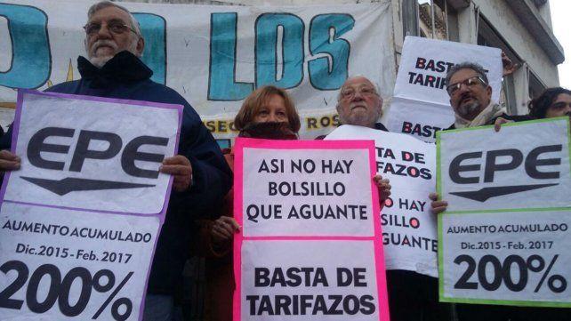 La Multisectorial Contra el Tarifazo en una de las movilizaciones realizadas en junio del año pasado en la ciudad de Rosario.