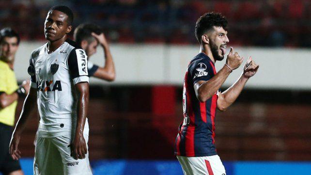 San Lorenzo debutó en la Sudamericana con un triunfo ante Atlético Mineiro
