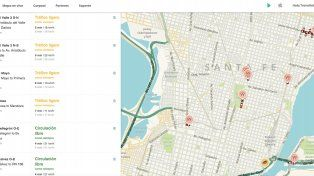 Captura de pantalla del panel de control que monitorea el Gobierno de la Ciudad como integrante del programa Ciudadanos conectados de Waze. Allí el Municipio carga las intervenciones por obras