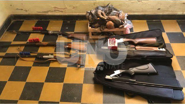 Secuestro. Los agentes decomisaron las armas