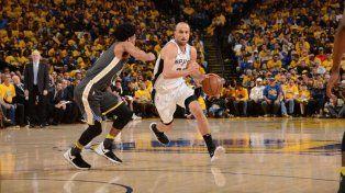 Con buen aporte de Manu, los Spurs volvieron a perder con Golden State