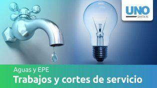 Cortes y trabajos programados por Aguas Santafesinas y EPE