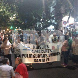 La protesta arrancó en San Martín y Bulevar