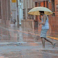 Emitieron un alerta meteorológico por tormentas fuertes para Santa Fe