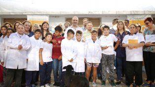 Acto. Se realizó en la escuela Nº95 Simón de Iriondo, en el barrio de Alto Verde.