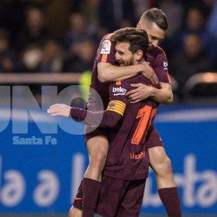 lionel messi marco tres goles para su 9º titulo local en barcelona