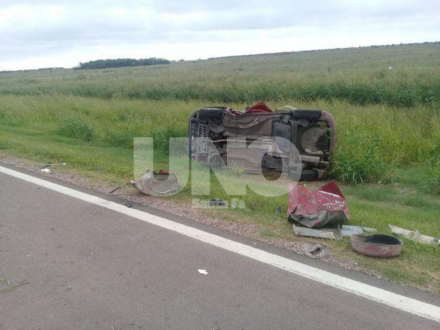 Dos muertos y un herido en un choque en Esteban Rams
