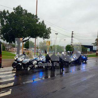 Móviles. Los efectivos llegaron con distintos tipos de vehículos para patrullar la ciudad.