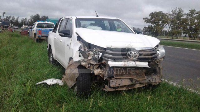 El conductor de una camioneta resultó herido en un accidente en ruta 34