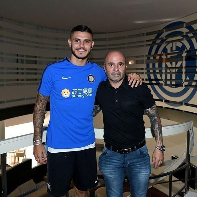 Sampaoli se reunió con Icardi y Biglia en Milán