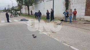 El hombre fue embestido frente al Cementerio Municipal