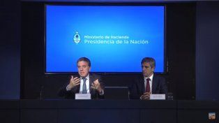 Dujovne y Caputo en conferencia de prensa - Captura Youtube