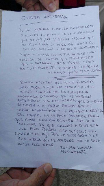 La acusada de planear el ataque a la comisaría difundió una carta