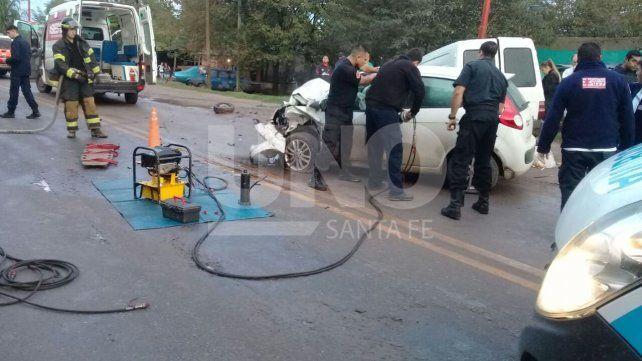 Falleció un automovilista en un choque en Santo Tomé