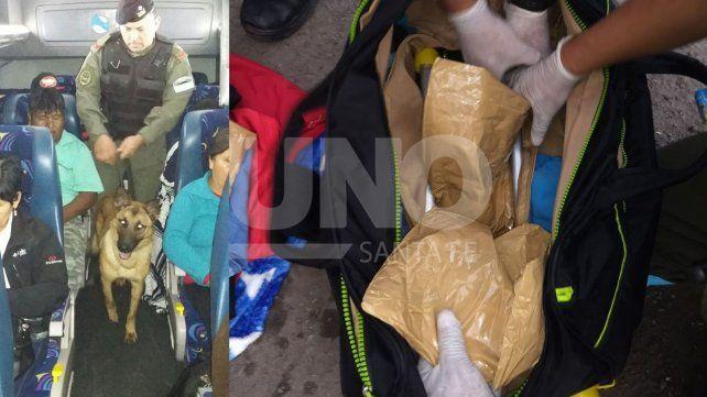 Entraron ilegalmente al país y llevaban más de 6 kilos de cocaína en el colectivo