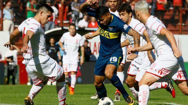 En un partidazo, el bicampeón Boca igualó 3 a 3 con Huracán
