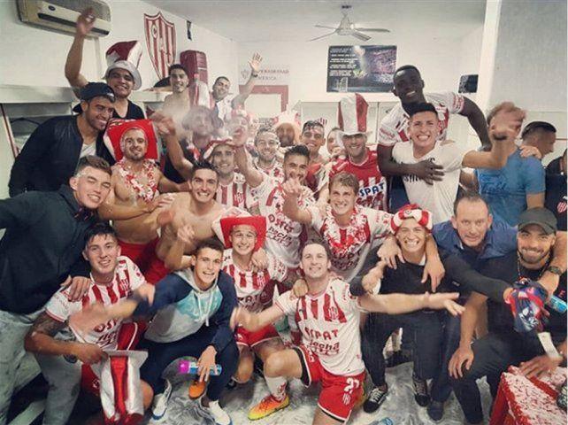 Así festejaron los jugadores de Unión la clasificación a la Copa