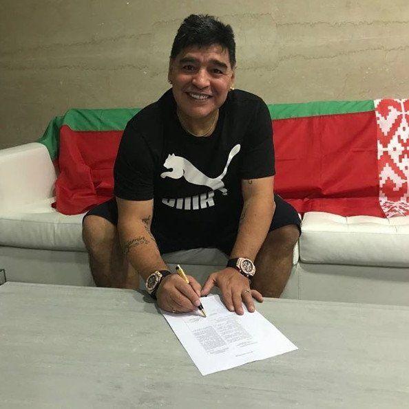 Diego Maradona, el nuevo presidente de un club de Bielorrusia