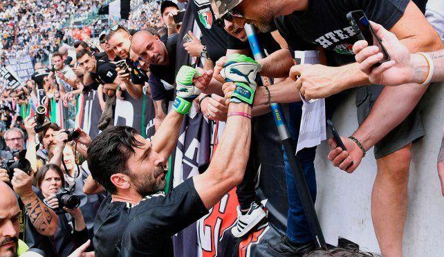 Buffon tuvo una emotiva despedida en la Juventus