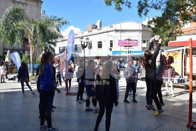 Se concretó el Street Volley