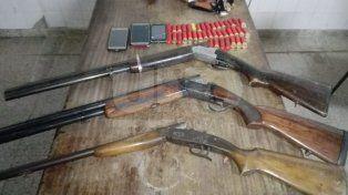 Secuestraron tres escopetas y 42 cartuchos en Alto Verde
