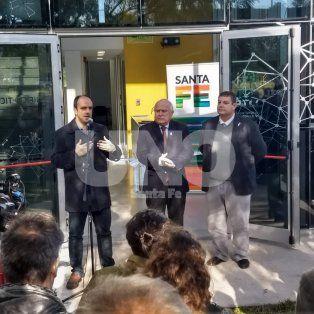 Corral se refirió al convenio con la EPE luego de la inauguración del nuevo edificio TICs. Lifschitz no habló luego del acto, lo hizo el ministro de Gobierno, Pablo Farías.