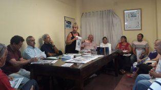 Susana Spizamiglio durante una reunión de la Red de Vecinales