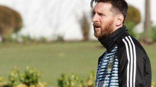 Lionel Messi llegó, no se tomó descanso y entrena a la par del resto
