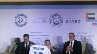 Maradona asumió como presidente de Dinamo Brest