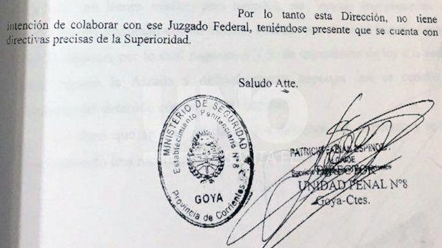 Le niegan colaboración desde Corrientes al juez federal Aldo Alurralde