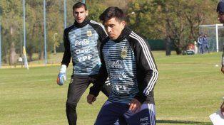 Guzmán y Acuña se sumaron a los entrenamientos en Ezeiza