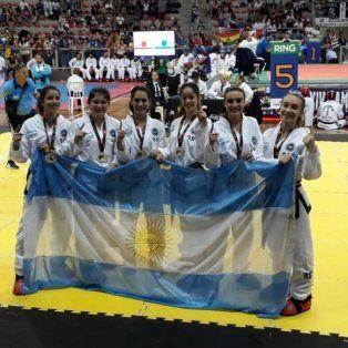 el panamericano de taekwondo tuvo a dos santotomesinos en el podio