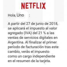 Netflix le avisa a sus clientes que a partir de junio aumentará 21%