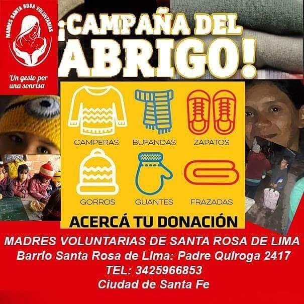 Juntan abrigos para ayudar a 200 niños de Santa Rosa de Lima