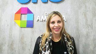 La senadora nacional María de los Ángeles Sacnun en la redacción de UNO Santa Fe