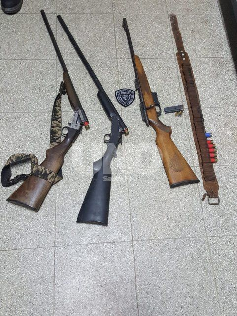 Secuestraron tres armas largas luego de una persecución