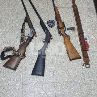 secuestraron tres armas largas luego de una persecucion