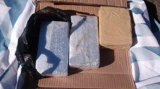 Detuvieron a un narco pasajero con más de tres kilos de cocaína